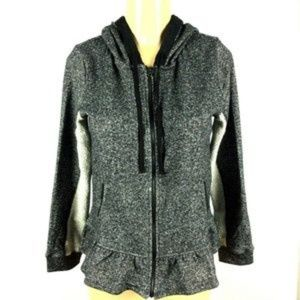 Kensie FrenchTerry Zip Up Hoodie Sweater Size S